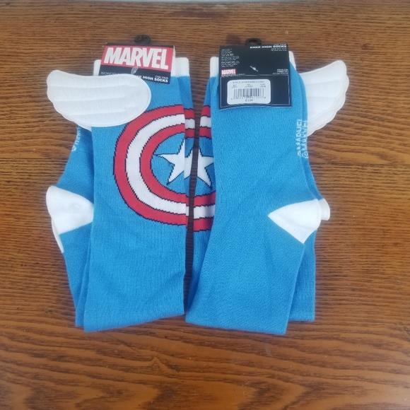 8a5743dfe Marvel Socks Captain America Knee High Sock 2 Pair
